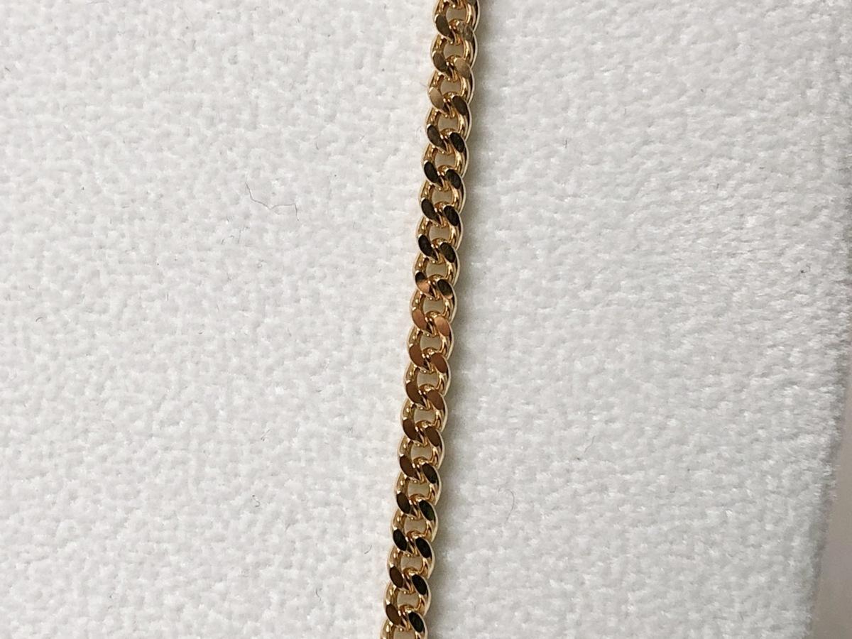 K18 喜平2面カット シングル ゴールドネックレス 50cm 20.2g_画像3