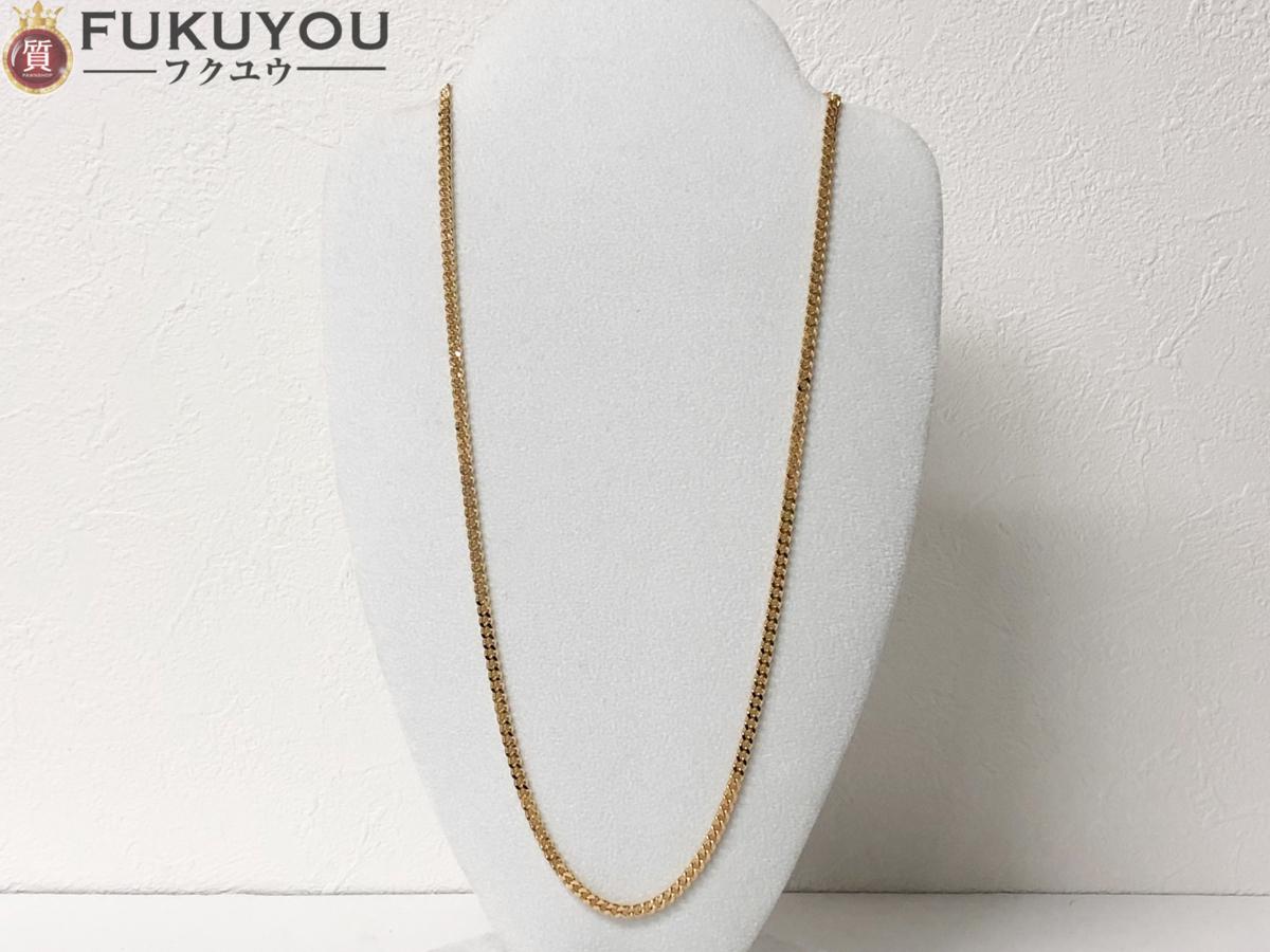 K18 喜平2面カット シングル ゴールドネックレス 50cm 20.2g_画像1