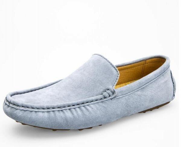 ローファー スリッポン 新品メンズ ドライビングシューズ カジュアル 紳士靴 グレー 25.5cm_画像2