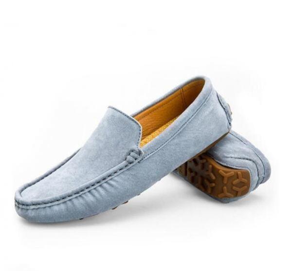 ローファー スリッポン 新品メンズ ドライビングシューズ カジュアル 紳士靴 グレー 25.5cm_画像1
