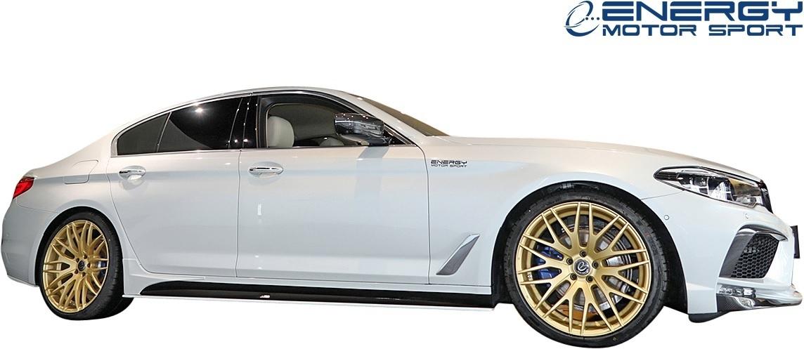 【M's】G30 BMW 5シリーズ セダン (2017y-) ENERGY MOTOR SPORT EVO G30.1 サイドスポイラー + スパッツ LR // エナジーモータースポーツ_画像1