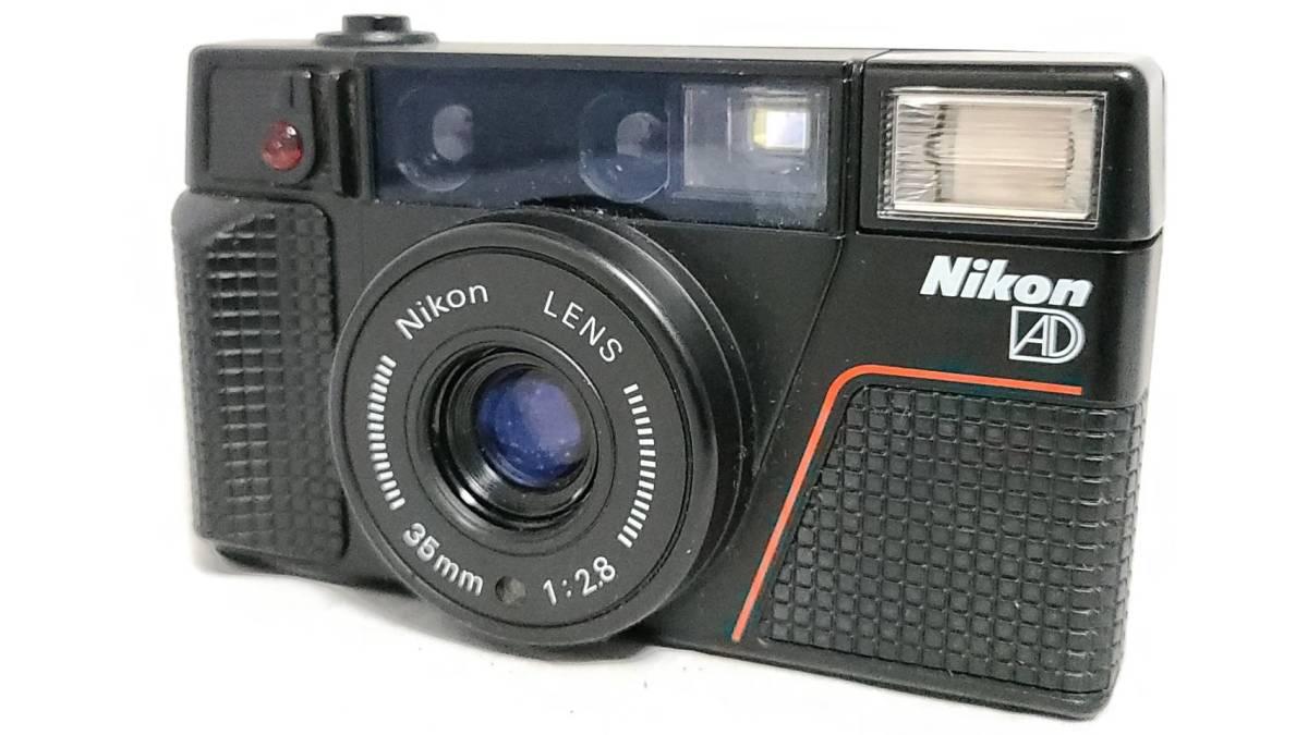 値下げ交渉可♪動作品【NIKONフィルムカメラ】ニコン L35AD2 コンパクトフィルムカメラ ジャンク 送料無料_画像1