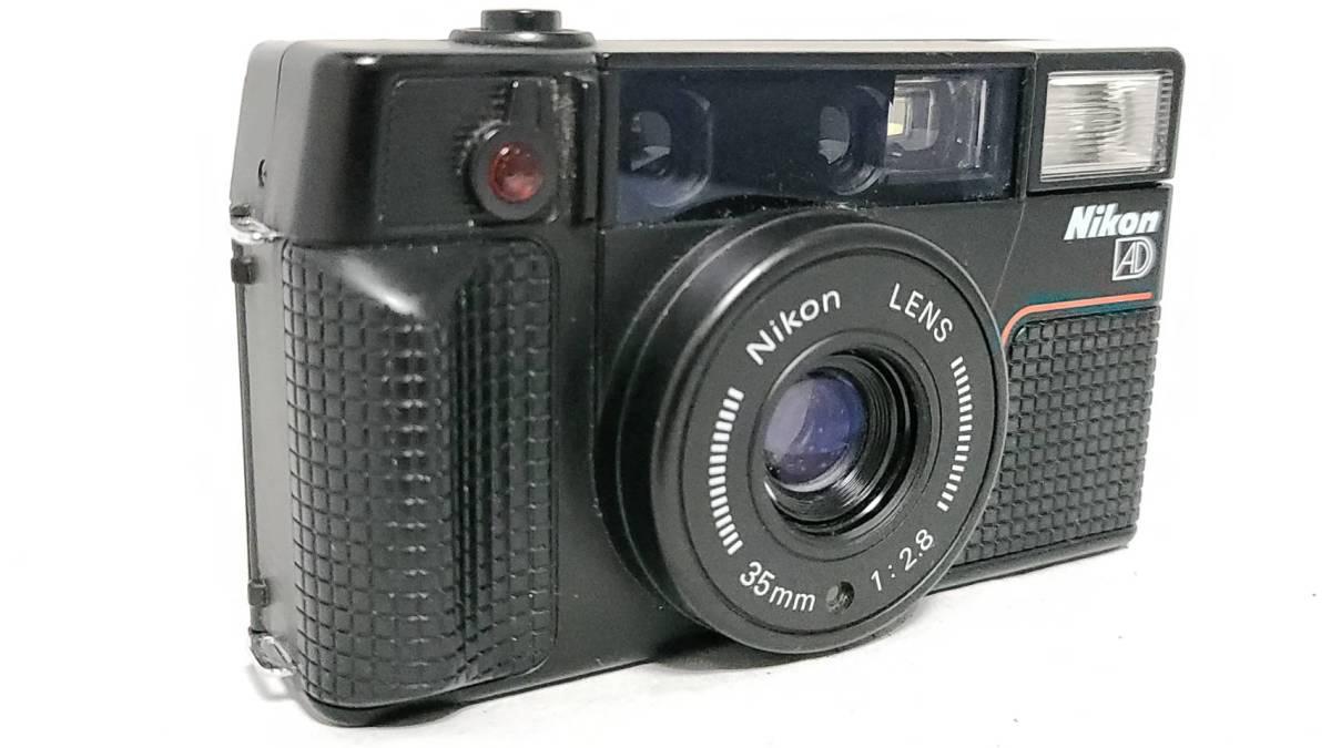 値下げ交渉可♪動作品【NIKONフィルムカメラ】ニコン L35AD2 コンパクトフィルムカメラ ジャンク 送料無料_画像2
