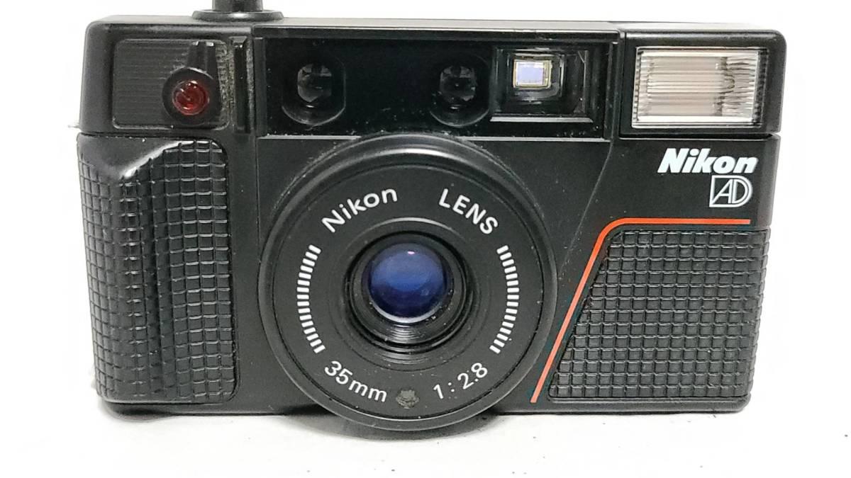 値下げ交渉可♪動作品【NIKONフィルムカメラ】ニコン L35AD2 コンパクトフィルムカメラ ジャンク 送料無料_画像3