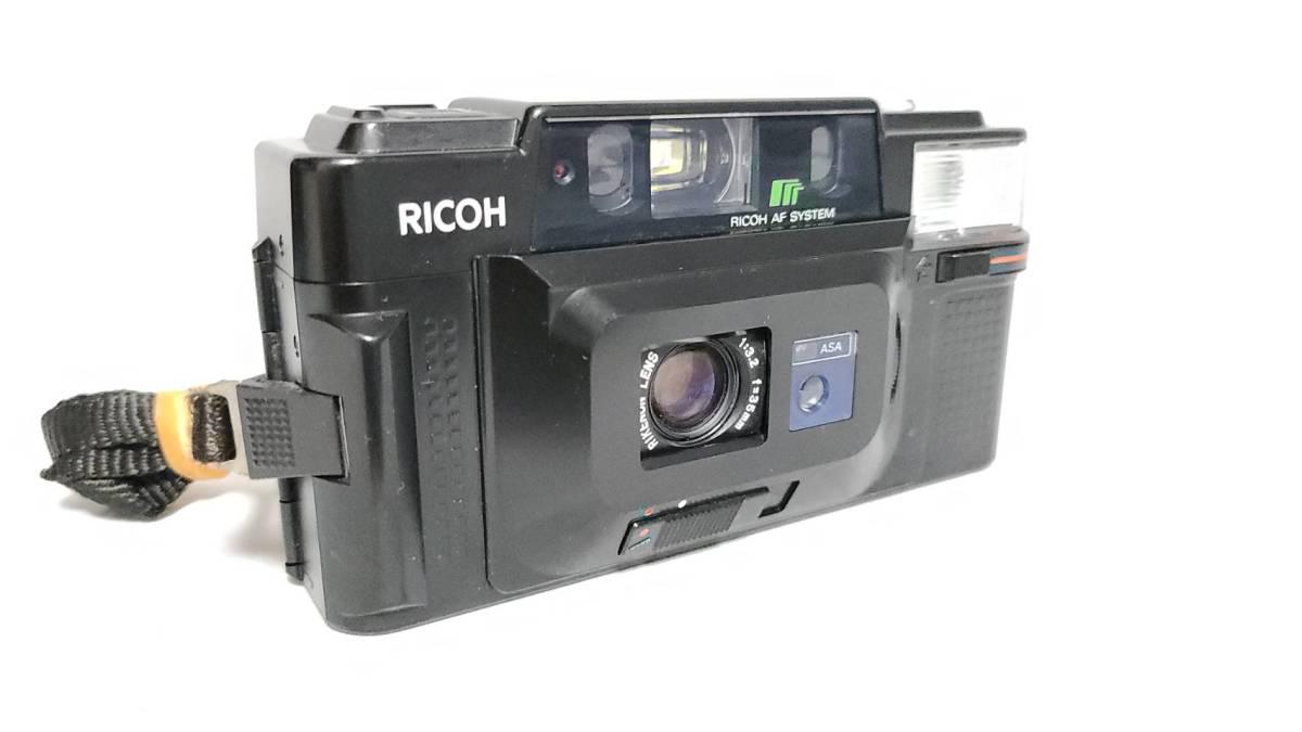 値下げ交渉可♪動作品【RICOHフィルムカメラ】リコー FF-3D AF コンパクトフィルムカメラ ジャンク 送料無料_画像2