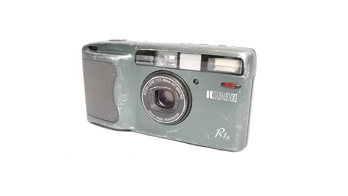 値下げ交渉可♪送料無料♪動作品【RICOHフィルムカメラ】リコー R1S コンパクトフィルムカメラ ジャンク  _画像1