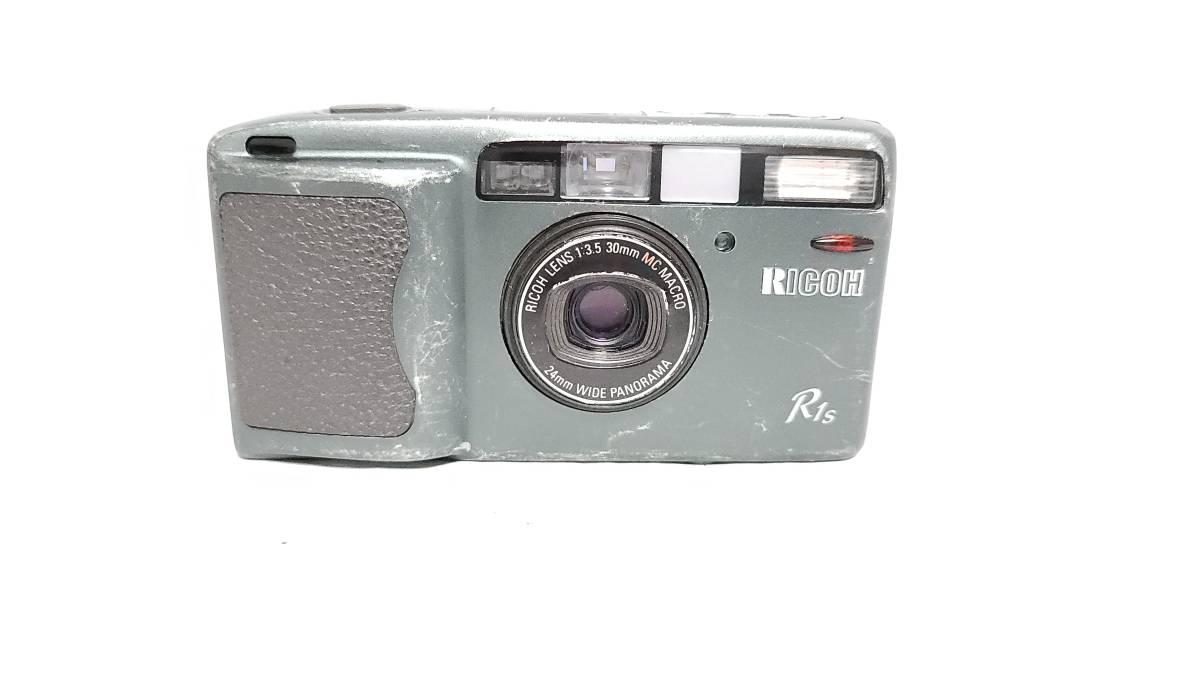 値下げ交渉可♪送料無料♪動作品【RICOHフィルムカメラ】リコー R1S コンパクトフィルムカメラ ジャンク  _画像3