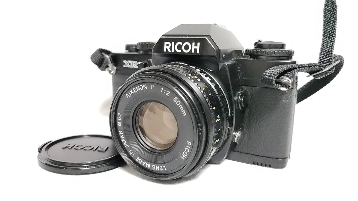 送料無料♪動作品【ricohフィルムカメラ/レンズ】リコー XR7+ RIKENON (リケノン) P 1:2 (f2) 50mm レンズ_画像1