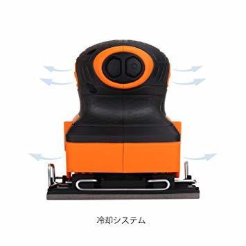 TACKLIFE サンダー 240W 15000RPM オービタルサンダー 低振動 低騒音 集塵可能 12*サンドペ_画像4