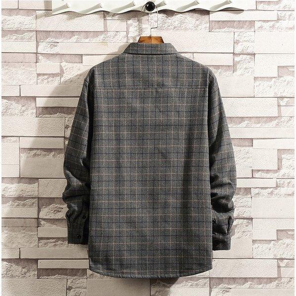 チェックシャツ メンズ 裏起毛シャツ カジュアルシャツ メンズシャツ 長袖シャツ 秋冬 シャツ トップス ネルシャツ :ssk19100901