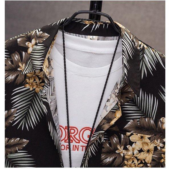 カジュアルシャツ メンズシャツ メンズ トップス 花柄シャツ シャツ 長袖 開襟シャツ ゆったり オーバーサイズ 秋服 :ssk19092601