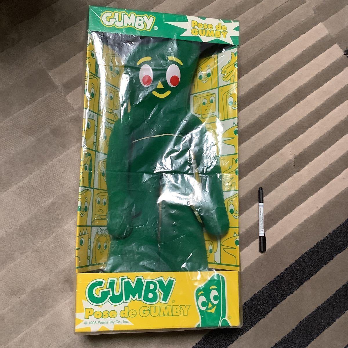 レア 特大 ガンビー ぬいぐるみ pose de gumby 可動 人形 GUMBY ポーズ クレイアニメ ビンテージ レトロ 海外キャラ 新品 figure doll