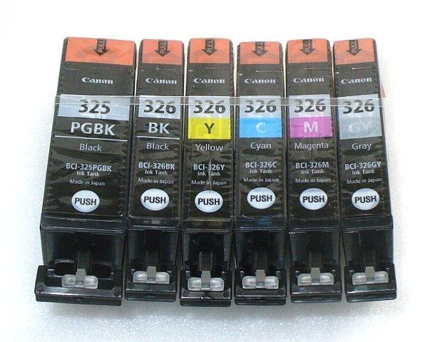 キャノン純正インクカートリッジ BCI-326+325 6色セット (箱なし) QMCP1B03_画像1