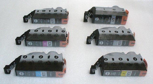 キャノン純正インクカートリッジ BCI-326+325 6色セット (箱なし) QMCP1B03_画像3