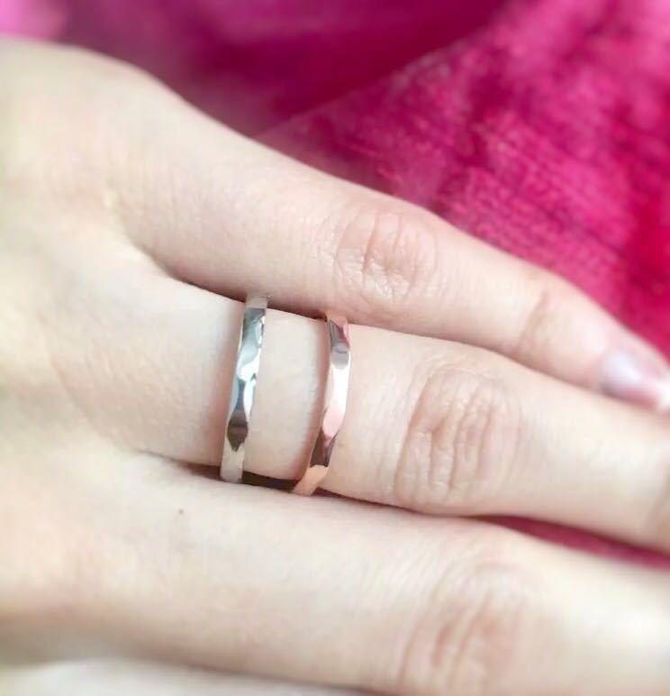 新品 13号 ピンクゴールド カットリング ステンレス 18kgp 高品質 エンゲージリング 結婚指輪 特価 送料無料_画像4