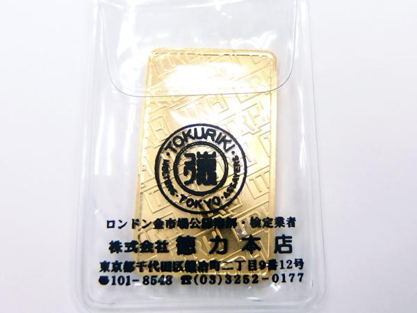 現物資産☆徳力本店 インゴット 30g K24IG ×1枚_画像2