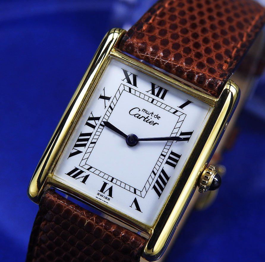 Cartier カルティエ TANK ARGENT Silver 925GP メンズ、ボーイズ 手巻き ( 美品、OH済み )