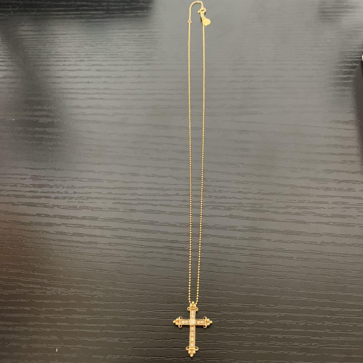 ジャスティンデイビス k18 ダイヤ ネックレス_画像1
