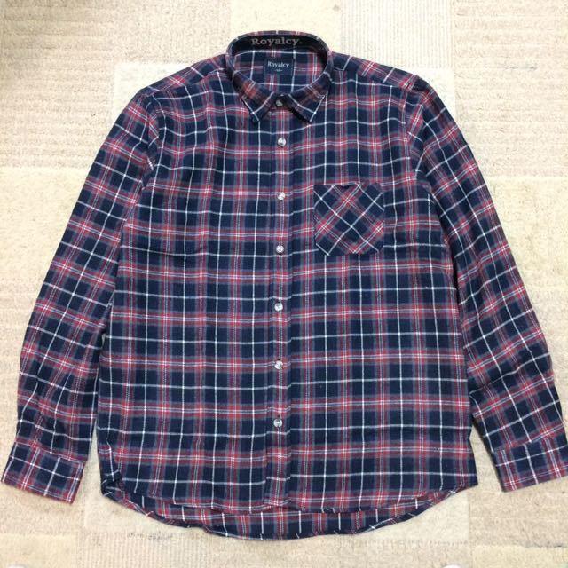 新品未使用 長袖 チェック柄ネルシャツ メンズ LLサイズ レッド×ネイビー系 送料無料 人気商品 長袖シャツ チェックシャツ