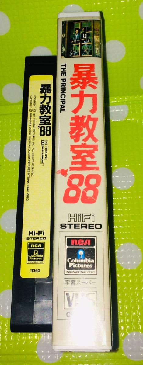 即決〈同梱歓迎〉VHS 暴力教室88 字幕スーパー 映画◎その他ビデオDVD多数出品中∞5435_画像3