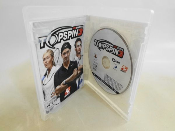 送料無料 即決 ソニー sony プレイステーション3 PS3 プレステ3 トップスピン3 2K スポーツ テニス シリーズ レトロ ゲーム ソフト z501