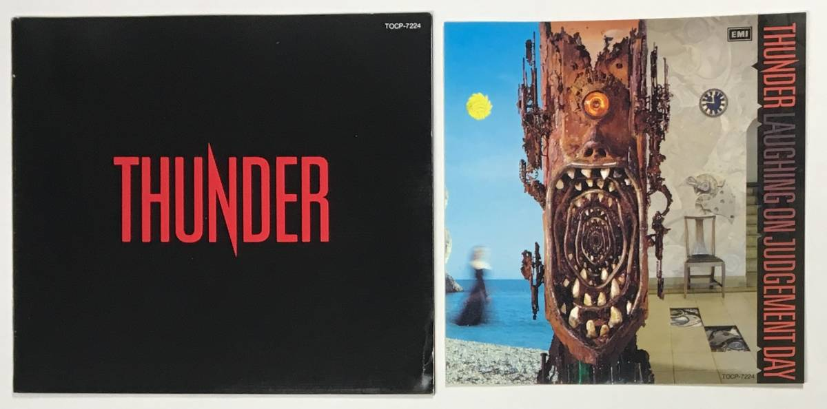 M0245◆THUNDER/サンダー◆2枚セット/BEHIND CLOSED DOORS+LAUGHING ON JUDGEMENT DAY(2CD)帯付き日本盤_画像7