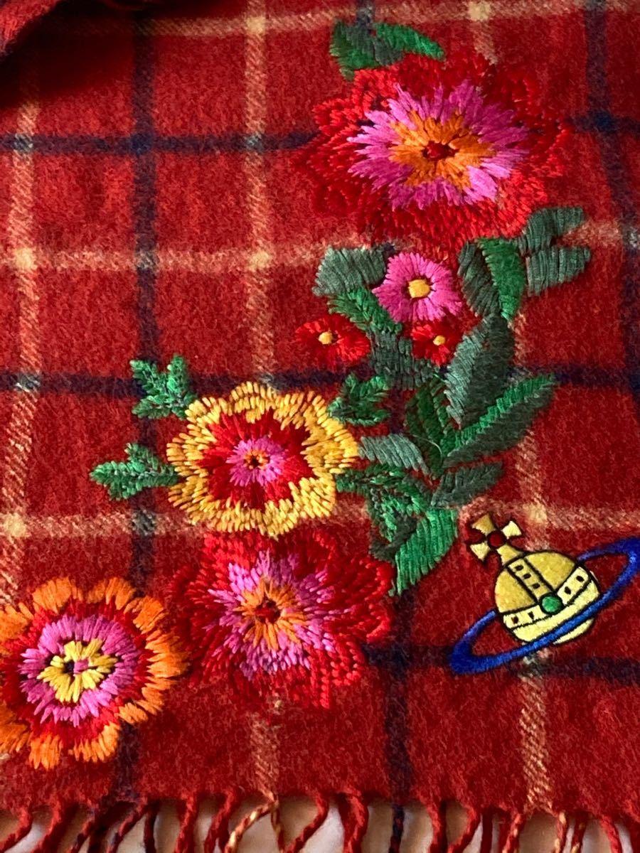 ヴィヴィアンウエストウッド 刺繍マフラー