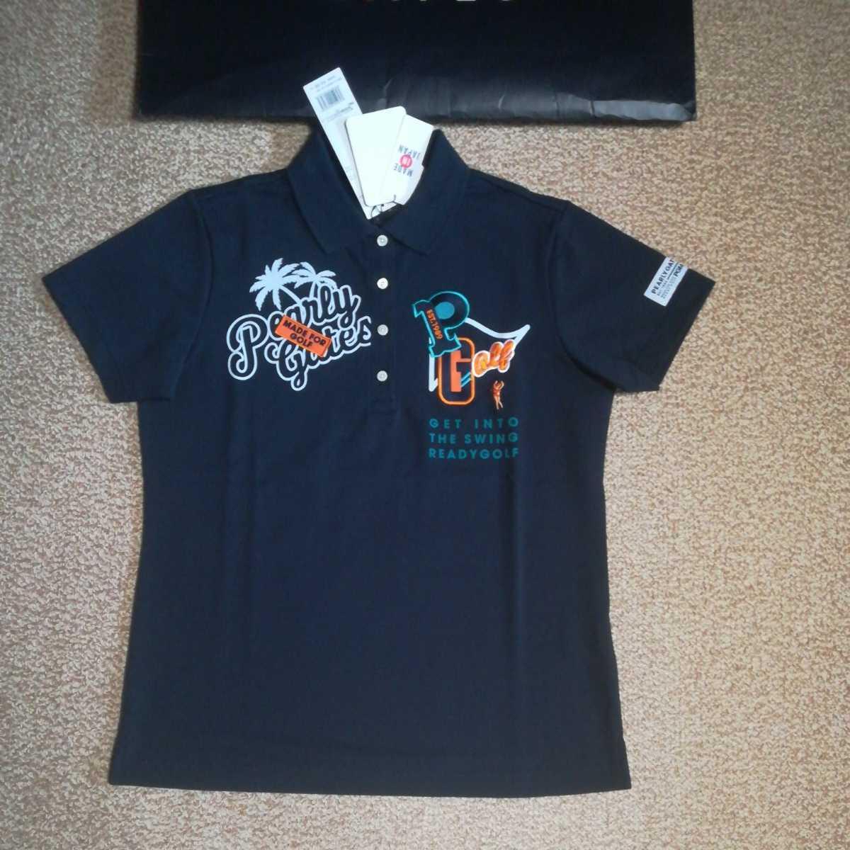 新品正規品 パーリーゲイツ サイズ1 2020最新作 サラサラ素材 ネイビー 鹿の子 ポロシャツ 送料無料_画像10