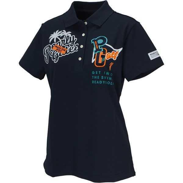 新品正規品 パーリーゲイツ サイズ1 2020最新作 サラサラ素材 ネイビー 鹿の子 ポロシャツ 送料無料_画像2