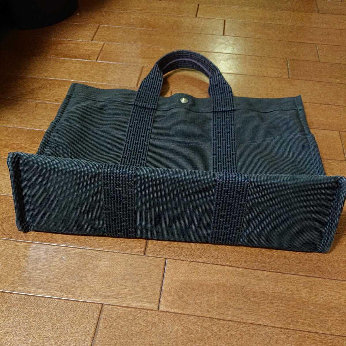 エルメス エルメスエールライン トートバッグ フールトゥ HERMES バッグ 男女兼用 ビジネスカバン 鞄 かばん 黒 ブラック_画像3