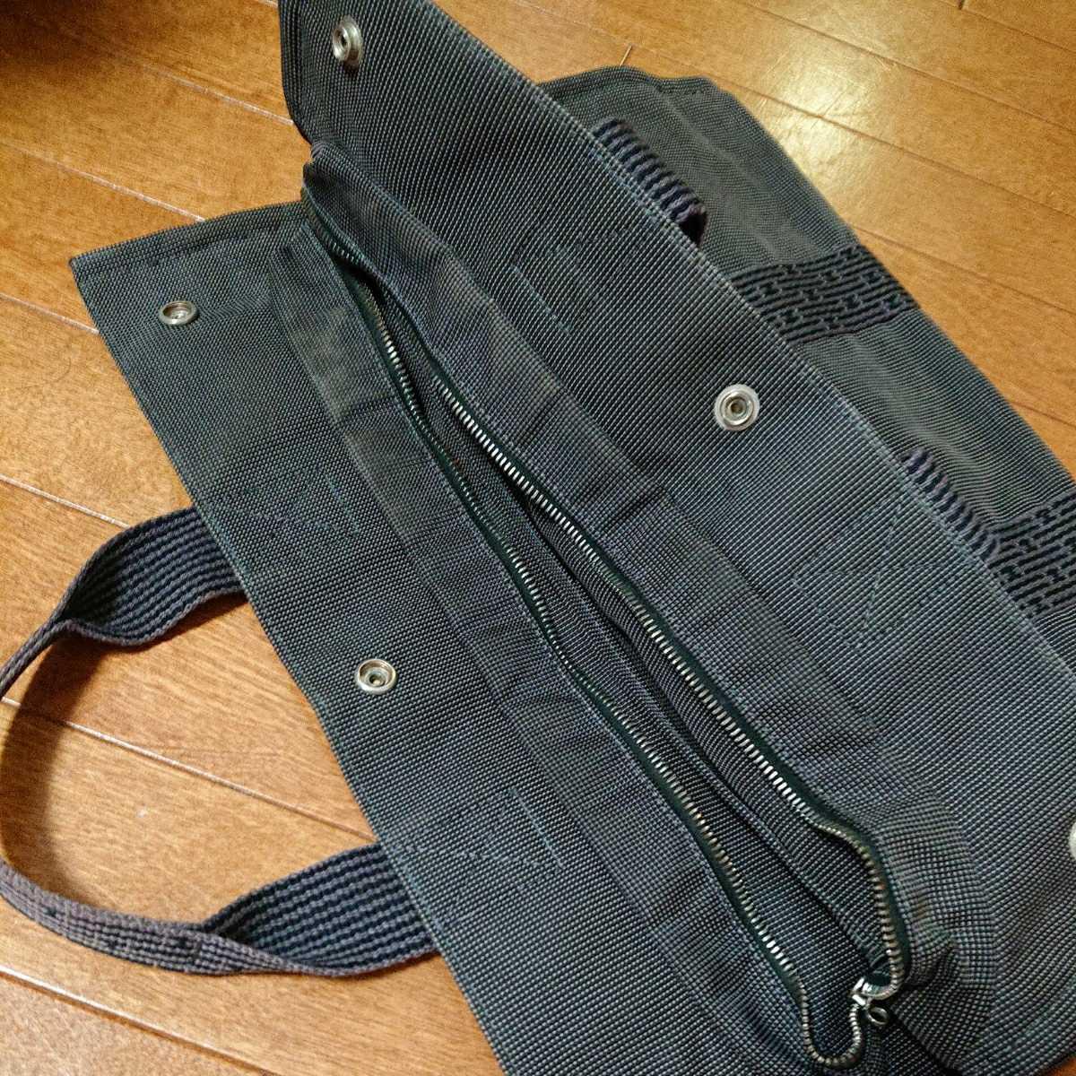 エルメス エルメスエールライン トートバッグ フールトゥ HERMES バッグ 男女兼用 ビジネスカバン 鞄 かばん 黒 ブラック_画像4