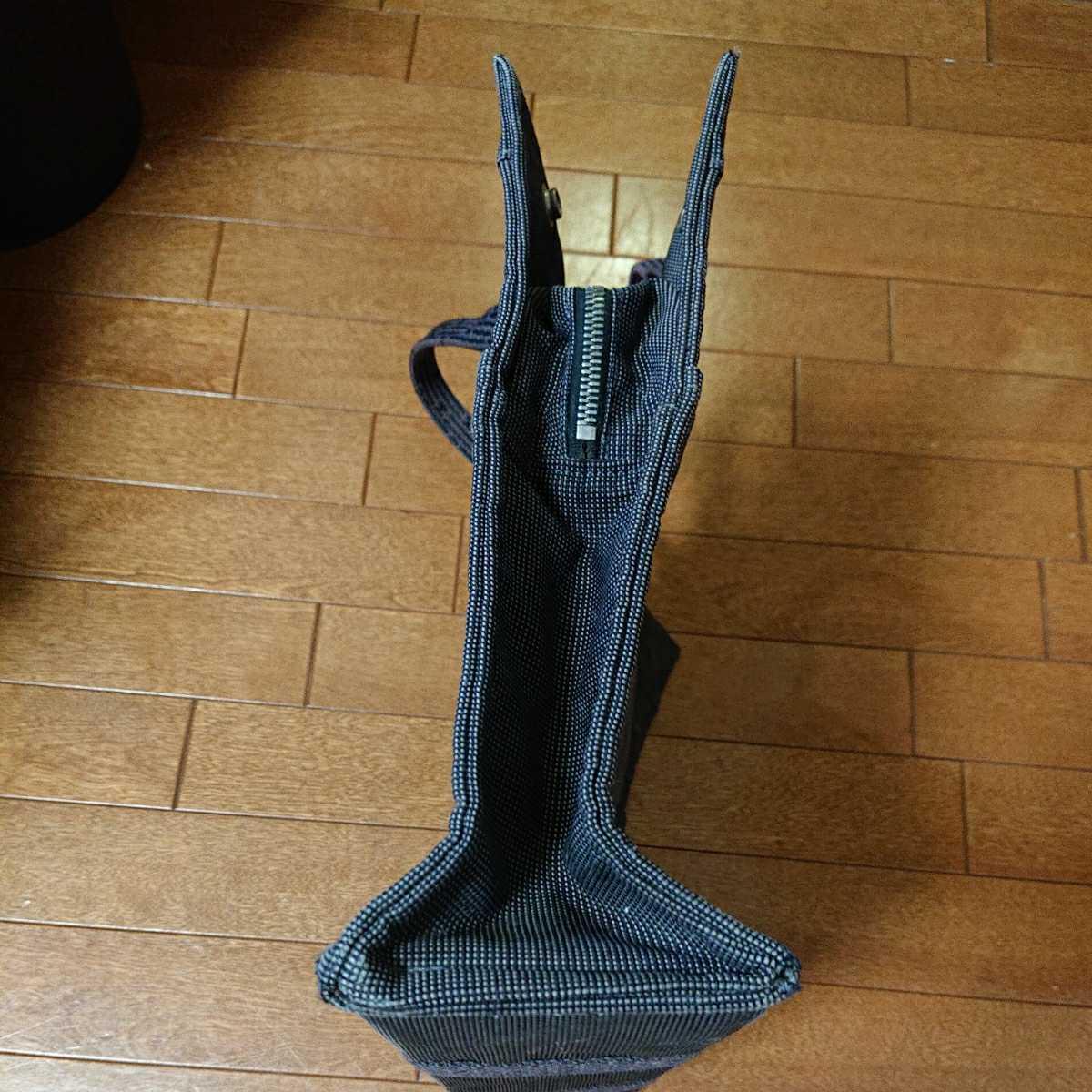 エルメス エルメスエールライン トートバッグ フールトゥ HERMES バッグ 男女兼用 ビジネスカバン 鞄 かばん 黒 ブラック_画像9
