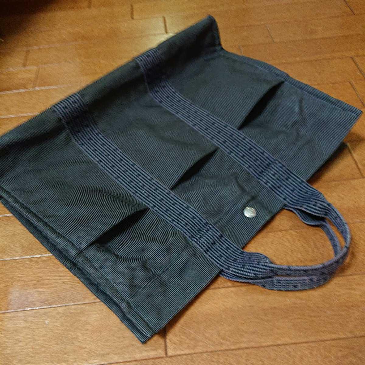 エルメス エルメスエールライン トートバッグ フールトゥ HERMES バッグ 男女兼用 ビジネスカバン 鞄 かばん 黒 ブラック_画像8