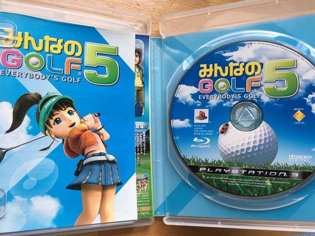 PS3【みんなのゴルフ5】プレイステーション3 ゲームソフト