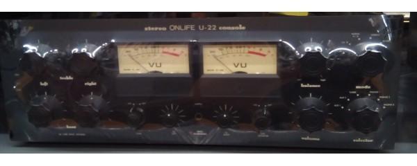 ★((3カ月保証))★ ONLIFE オンライフリサーチ U-22 真空管プリアンプ ブラック 音の良い逸品! 名機! 魅惑のテレフンケン!(鶴)_画像1