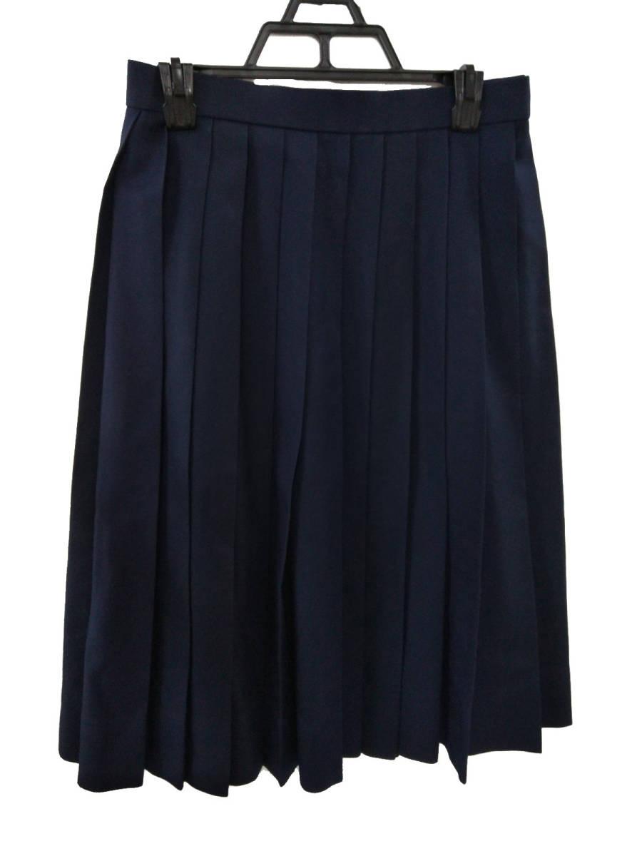 コスプレ衣装 冬服 スクールスカート 女子制服 プリーツ 紺 中古 中学 高校_画像1