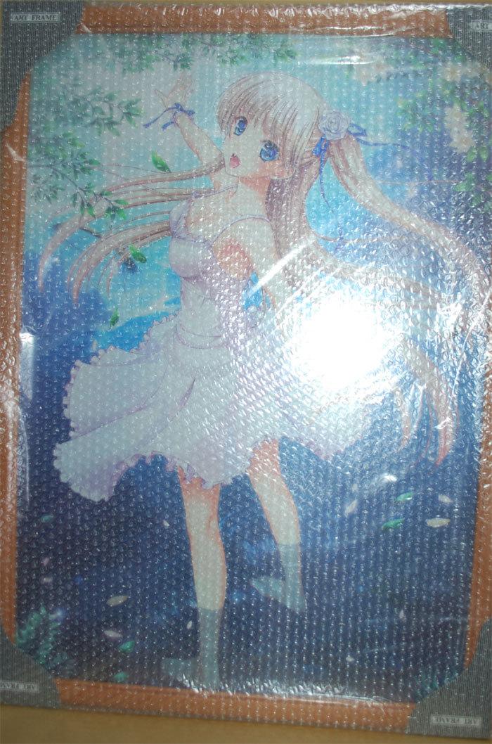 絵師100人展 04 複製原画 「 こもりけい 青い泉と少女 」 / けもこも屋_画像1