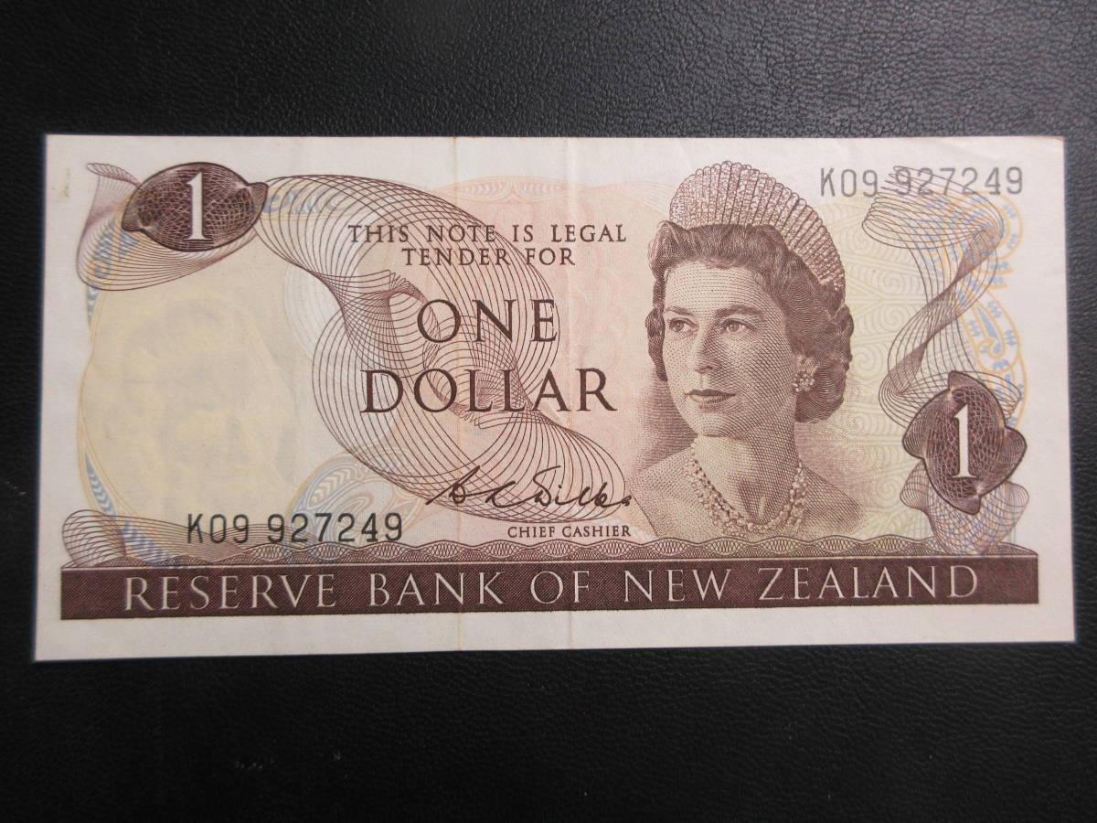 【NZ】1ドル 1968-75年 美品_画像1