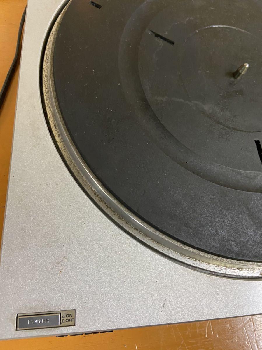 SONY ソニー レコードプレイヤー PS-350 通電のみ確認済 回転しました その他未確認の為、ジャンク出品_画像2