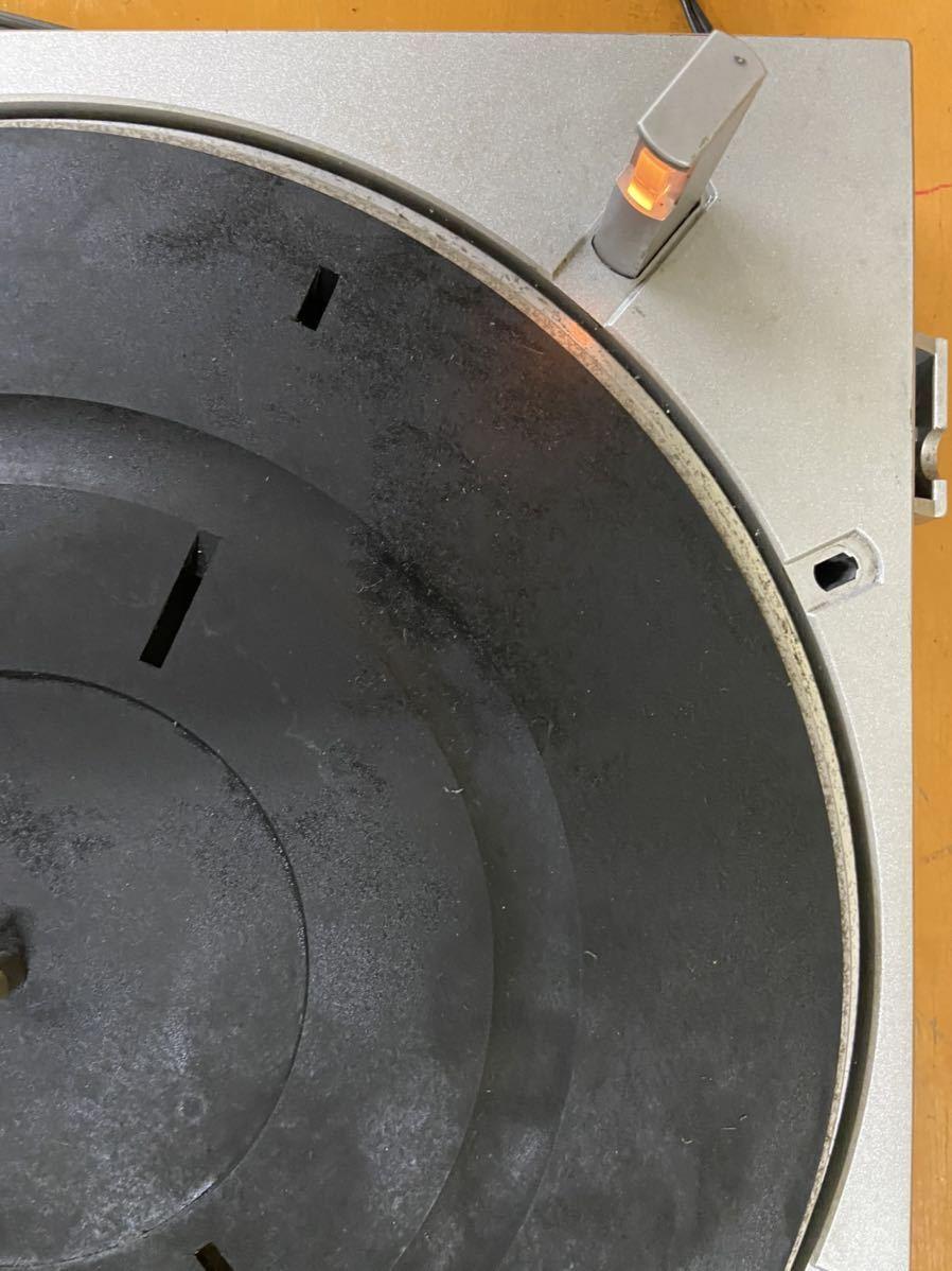 SONY ソニー レコードプレイヤー PS-350 通電のみ確認済 回転しました その他未確認の為、ジャンク出品_画像5