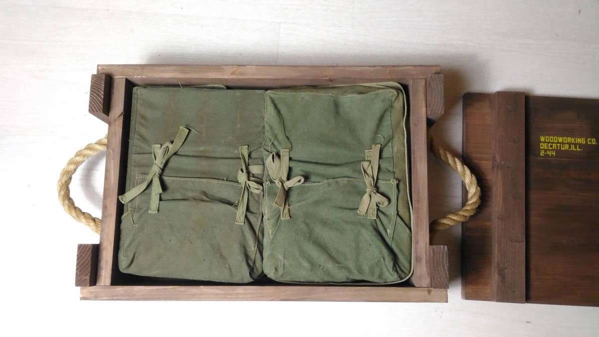 WW2 米軍 デモバック 爆薬梱包袋 ハバーサック M1/M2/M3用_木箱梱包の参考写真です。