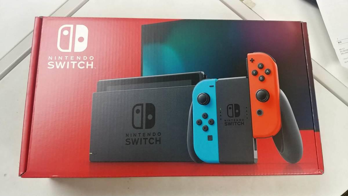 新品未使用・「Nintendo Switch Joy-Con(L)ネオンブルー/(R)ネオンレッド バッテリー持続時間が長くなった新モデル_画像1