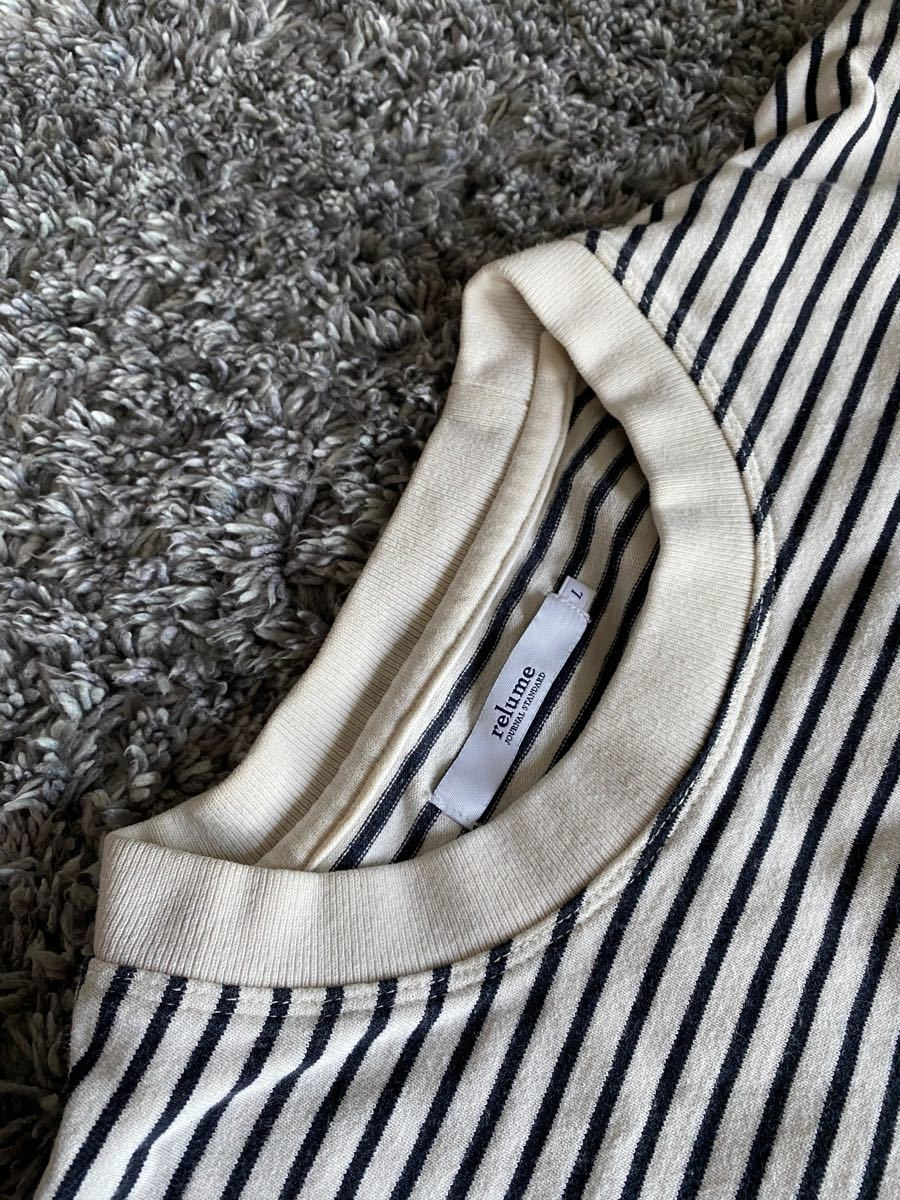 ボーダー半袖 厚手Tシャツ