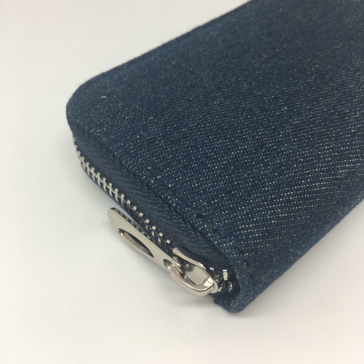 新品 カードケース 定期入れ レディース メンズ じゃばら 大容量 財布 デニム
