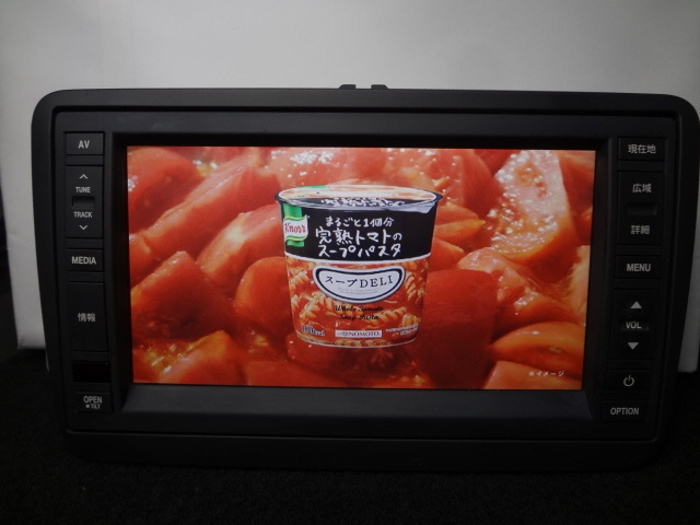 ◎日本全国送料無料 VW純正ワイドSDナビ J1KDC2A16 フルセグTV内蔵 DVDビデオ再生 Bluetooth対応 CD4000曲録音 保証付_画像1