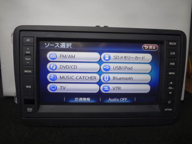 ◎日本全国送料無料 VW純正ワイドSDナビ J1KDC2A16 フルセグTV内蔵 DVDビデオ再生 Bluetooth対応 CD4000曲録音 保証付_画像7