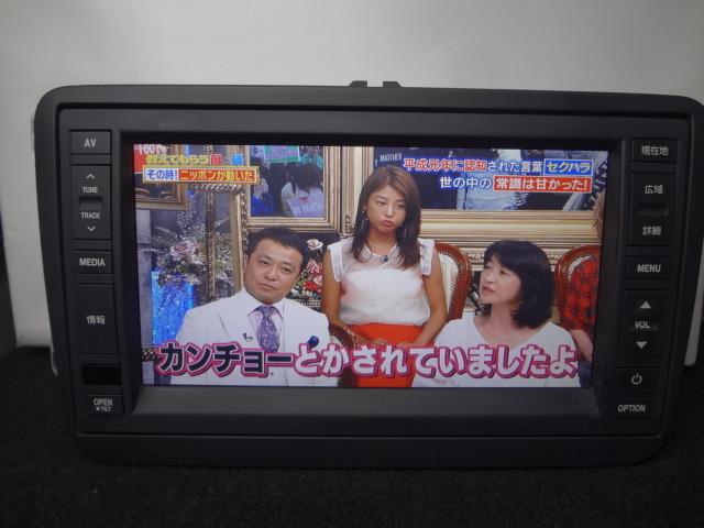 ◎日本全国送料無料 VW純正ワイドSDナビ J1KDC2A16 フルセグTV内蔵 DVDビデオ再生 Bluetooth対応 CD4000曲録音 保証付_画像2