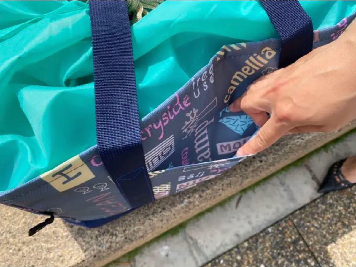 ★保冷保温★エコレジカゴ折りたたみバッグ ネイビーカラー