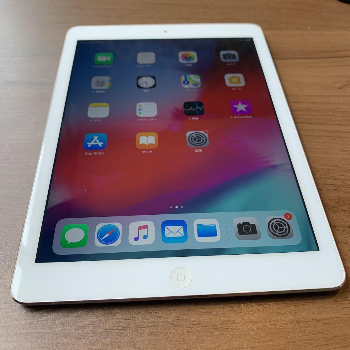 iPad Air 64G silver au 中古品 比較的美品 2608