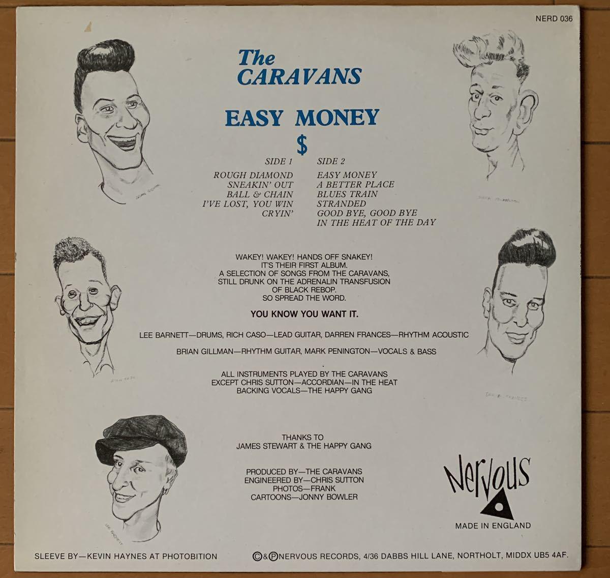 【値下】THE CARAVANS ネオロカ、EASY MONEY、ロカビリー、サイコビリー LP NERVOUS_画像2